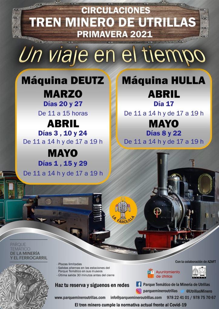 Horario de apertura del Parque Temático de la Minería y el Ferrocarril de Utrillas